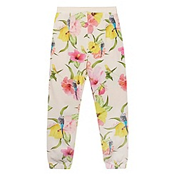 Baker by Ted Baker - Girl's pink hibiscus hareem trousers