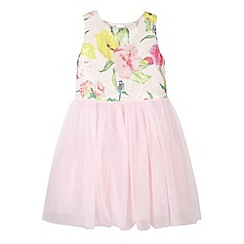 Baker by Ted Baker - Girl's light pink sequin floral bodice dress