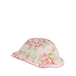 Baker by Ted Baker - Babies light pink butterfly printed bucket hat