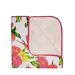 Baker by Ted Baker - Babies pink floral printed jersey blanket
