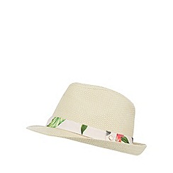 Baker by Ted Baker - Girl's natural trim trilby hat