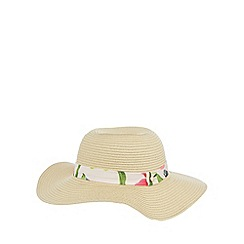Baker by Ted Baker - Girl's natural trim floppy sun hat