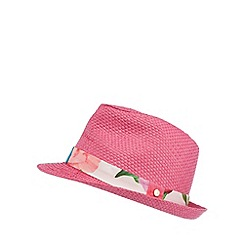 Baker by Ted Baker - Girl's pink trim trilby hat