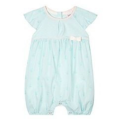 Baker by Ted Baker - Babies light green bow printed woven romper suit