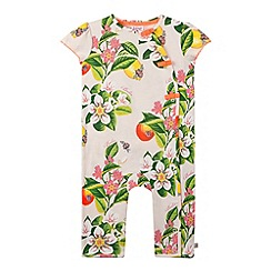 Baker by Ted Baker - Babies light pink floral sleepsuit