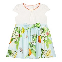 Baker by Ted Baker - Babies pale blue mock 2-in-1 blossom skirt dress