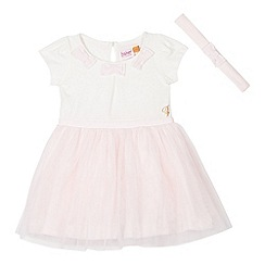 Baker by Ted Baker - Babies light pink dress and headband