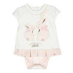 Baker by Ted Baker - Babies off white bunny mockable bodysuit