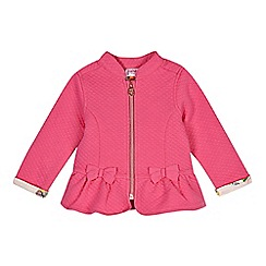 Baker by Ted Baker - Babies pink quilted sweat jacket