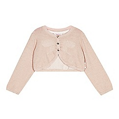 Baker by Ted Baker - Babies pink metallic knit cover up