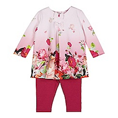 Baker by Ted Baker - Babies pink dip dye top and leggings set