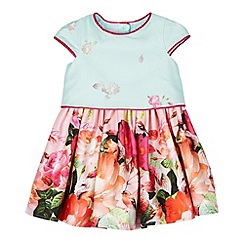 Baker by Ted Baker - Babies aqua 2-in-1 floral prom dress