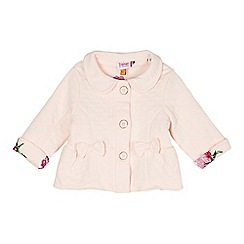 Baker by Ted Baker - Babies pink quilted bow jacket