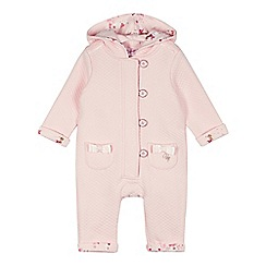 Baker by Ted Baker - Babies pink quilted hooded suit