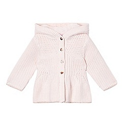 Baker by Ted Baker - Babies' pink hooded peplum cardigan