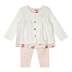 Baker by Ted Baker - Babies light pink dress, jacket and leggings set