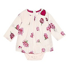 Baker by Ted Baker - Babies pink floral printed bodysuit