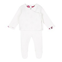 Baker by Ted Baker - Babies cream textured jumper, leggings and bodysuit set