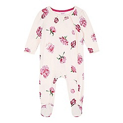 Baker by Ted Baker - Babies pink tulip print sleepsuit