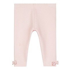Baker by Ted Baker - Babies pale pink textured bow leggings