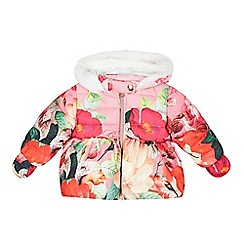 Baker by Ted Baker - Babies pink botanical print padded coat