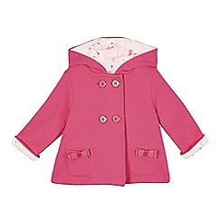 Baker by Ted Baker - Babies pink quilted jersey swing jacket