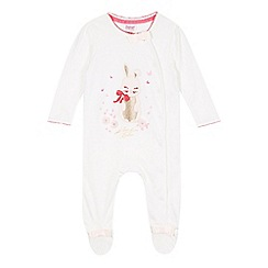 Baker by Ted Baker - Babies off white bunny sleepsuit