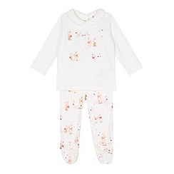 Baker by Ted Baker - Babies cream bow top and bunny print leggings set