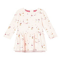 Baker by Ted Baker - Babies light pink bunny printed dress