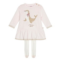 Baker by Ted Baker - Baby girls' light pink seal dress and tights set