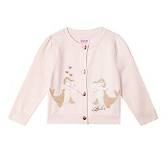 Baker by Ted Baker - Baby girls' light pink seal knit cardigan