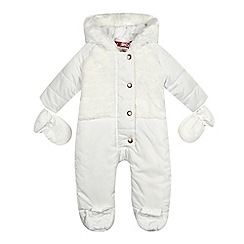 Baker by Ted Baker - Baby girls' white snowsuit