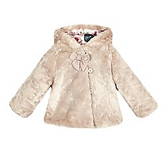 Baker by Ted Baker - Baby girls' pink faux fur coat
