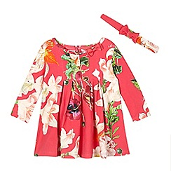 Baker by Ted Baker - Baby girls' pink floral dress and hairband