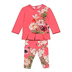 Baker by Ted Baker - Baby girls' pink floral top and leggings set