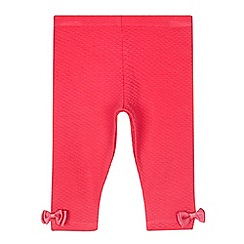 Baker by Ted Baker - Baby girls' pink textured leggings