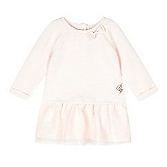 Baker by Ted Baker - Baby girls' pink textured mock dress