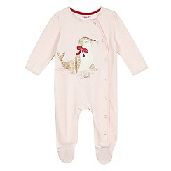 Baker by Ted Baker - Baby girls' pink seal sleepsuit