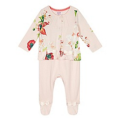 Baker by Ted Baker - Baby girls' light pink romper suit