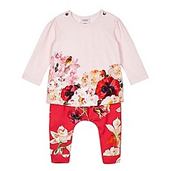 Baker by Ted Baker - Baby girls' pink top and harem trousers set