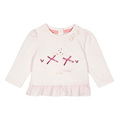 Baker by Ted Baker - Baby girls' pale pink seal peplum top