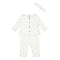 Baker by Ted Baker - Babies' white jacket and bottom set