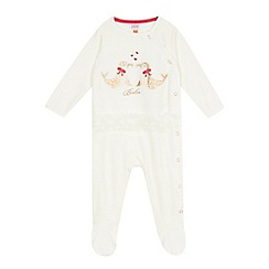 Baker by Ted Baker - Baby girls' off white seal print sleepsuit