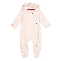 Baker by Ted Baker - Baby girls' pink velour all-in-one suit