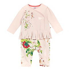 Baker by Ted Baker - Baby girls'pink floral romper suit