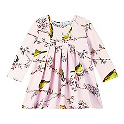 Baker by Ted Baker - Babies light pink bird and branch print jersey dress