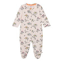 Baker by Ted Baker - Babies light pink bird sleepsuit