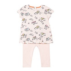 Baker by Ted Baker - Babies' light pink bird print jersey set