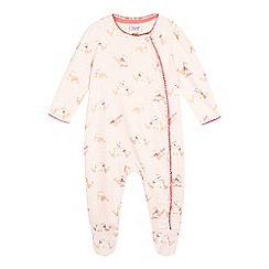 Baker by Ted Baker - Baby girls' pink seal print sleepsuit