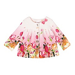 Baker by Ted Baker - Babies pink textured botanical jacket